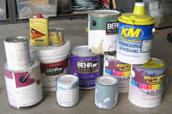 Reader suggestion storing and disposing used paint for How to dispose of empty paint cans