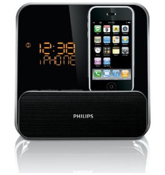 The Philips DC315/37 Speaker System for iPod/iPhone with LED clock radio