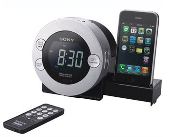 The Sony ICF-C7IP Clock Radio for iPod and iPhone with hidden sliding dock tray