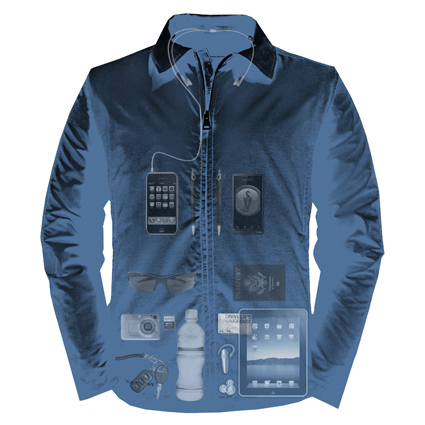 X-Ray View of Essential Travel Jacket by Scottevest