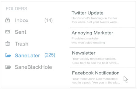 Organize your email inbox with SaneBox