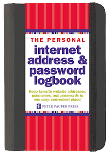 password notebook