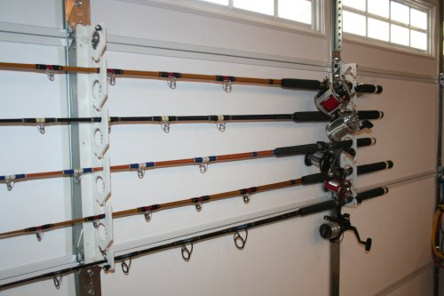 Wall Mounted System For Storing Fishing Poles Unclutterer
