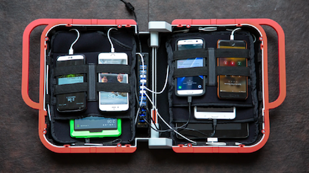 e-hive transportable charging station