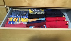 tshirts folded Konmari method