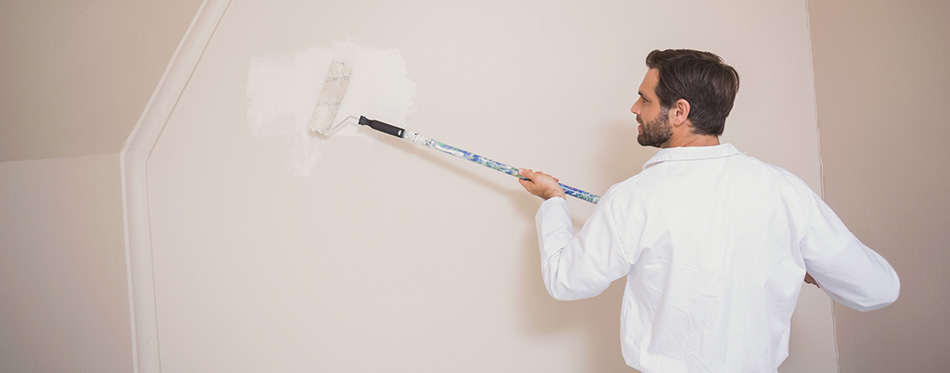 Painter painting the walls