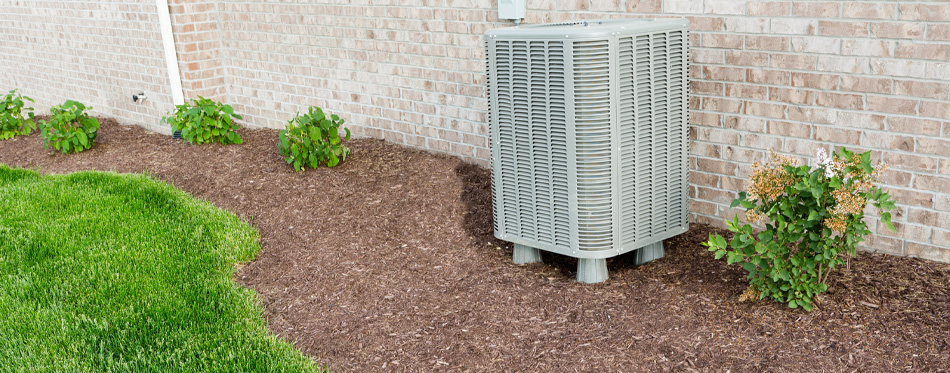 air conditioner in garden