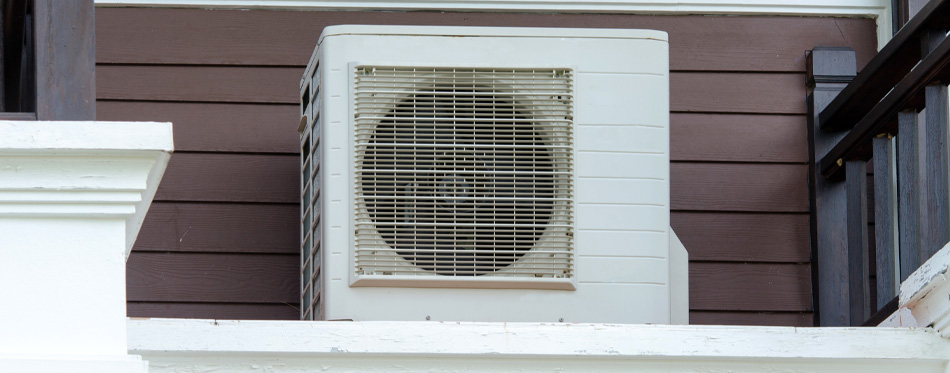air conditioner on the porch