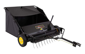 Brinly-Tow-Behind-Lawn-Sweeper-with-Dethatcher-image