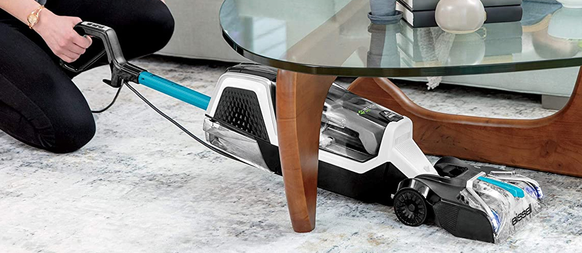 carpet cleaner under table