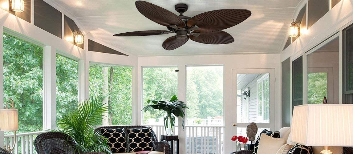 ceiling fan in living room