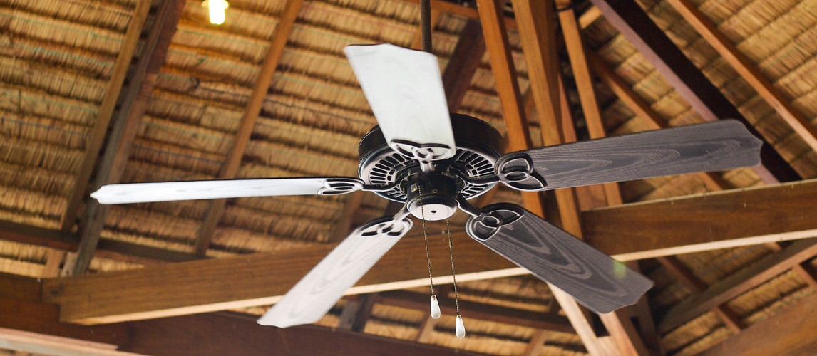 ceiling fan in the attic