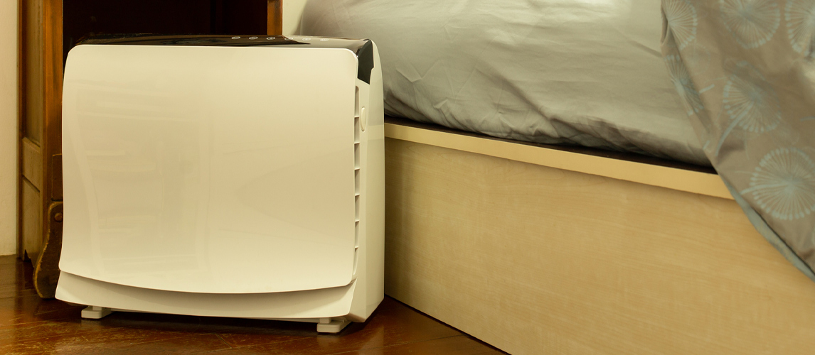 dehumidifier in bedroom