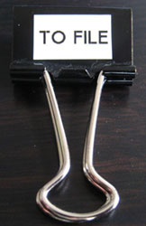 Reader suggestion: Staying organized with binder clips