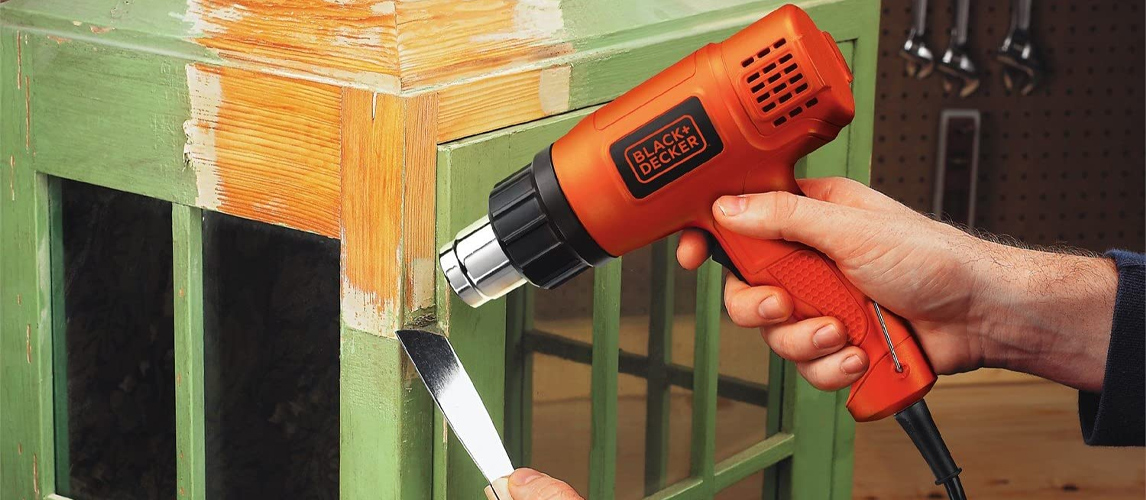 heat gun stripping paint