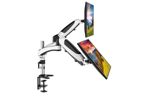 HUANUO-Dual-Arm-Gas-Spring-Monitor-Stand-image