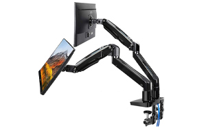 HUANUO-Extra-Long-Gas-Spring-Dual-Monitor-Mount-Stand-image