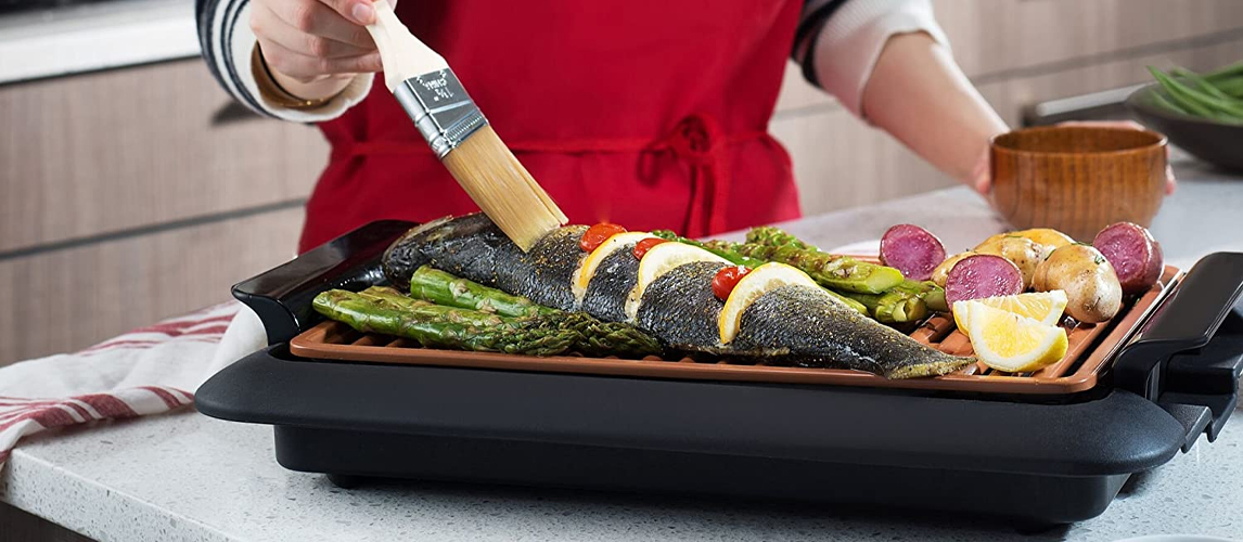 indoor grill with fish