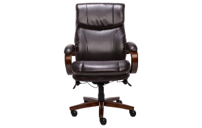 La-Z-Boy-Trafford-Brown-Bonded-Leather-Executive-Office-Chair-image