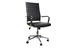 LUCKWIND-Ergonomic-Ribbed-Leather-Swivel-Chair-image