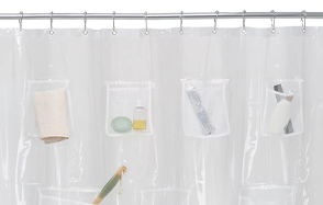 Maytex-Quick-Dry-Mesh-Pockets-Shower-Curtain-image