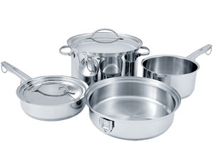 stowaway cookware can save space in the kitchen unclutterer. Black Bedroom Furniture Sets. Home Design Ideas