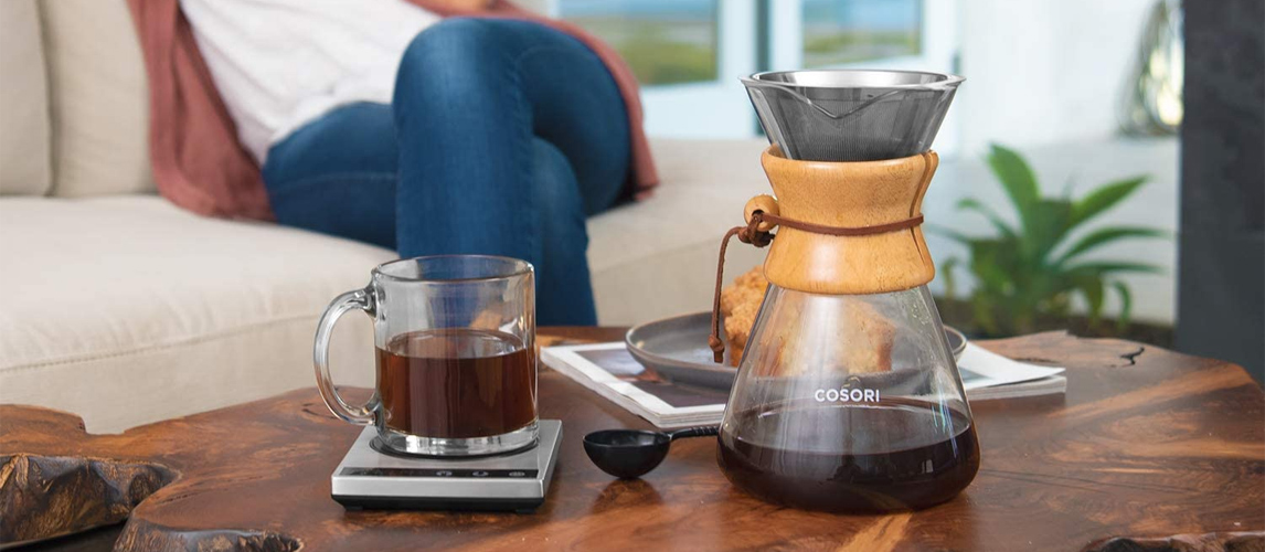 pour over coffee maker collar