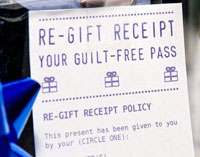 Free pass to return or re-gift presents