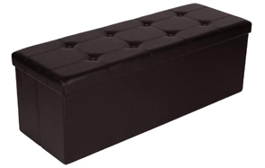 SONGMICS-Folding-Faux-Leather-Ottoman-Bench-image