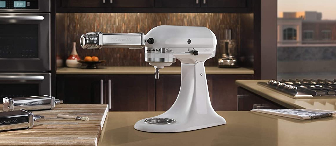 stand mixer in the kitchen