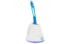 Without Battery, Green Exceart Portable UV Toothbrush Holder UV Light Toothbrush Cleaner Toothbrush Sanitizer for Hotel Travel Home