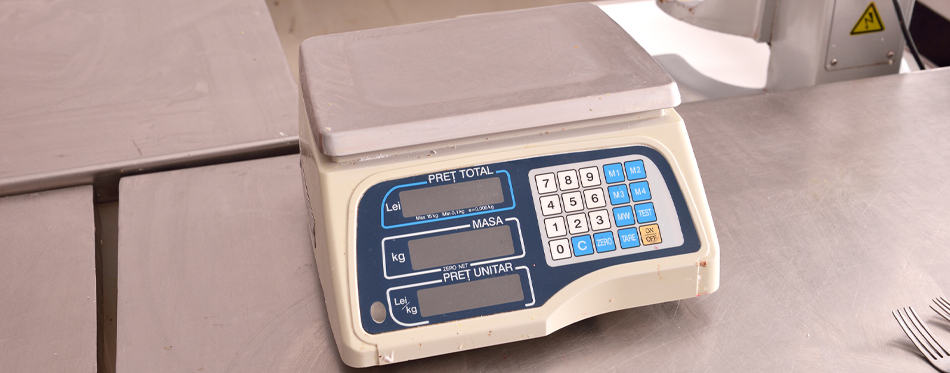typical digital kitchen scale