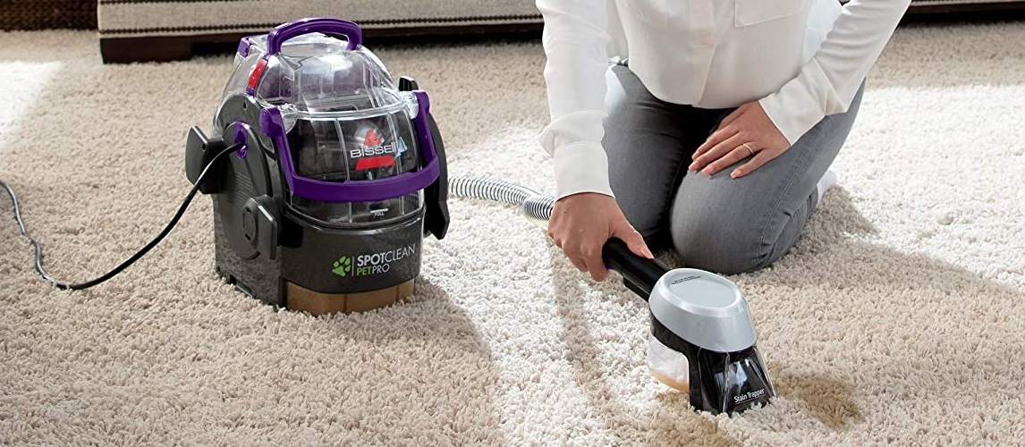 using carpet cleaner