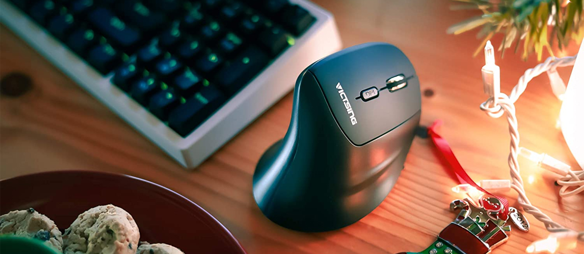 vertical mouse on table